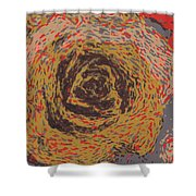 Abstract Rose 745 Shower Curtain