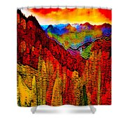 Abstract Scenic 3 Shower Curtain