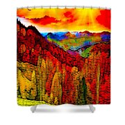 Abstract Scenic 3a Shower Curtain