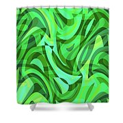 Abstract Waves Painting 0010075 Shower Curtain