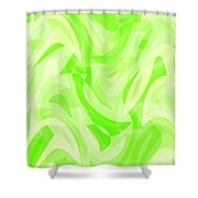 Abstract Waves Painting 0010076 Shower Curtain