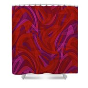 Abstract Waves Painting 0010080 Shower Curtain