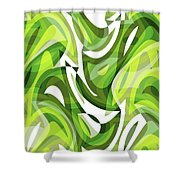 Abstract Waves Painting 0010081 Shower Curtain