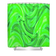 Abstract Waves Painting 0010082 Shower Curtain