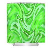 Abstract Waves Painting 0010086 Shower Curtain