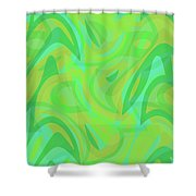 Abstract Waves Painting 0010089 Shower Curtain