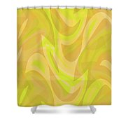 Abstract Waves Painting 0010091 Shower Curtain