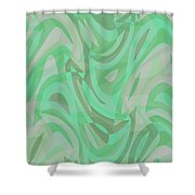Abstract Waves Painting 0010092 Shower Curtain