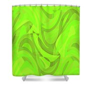 Abstract Waves Painting 0010093 Shower Curtain