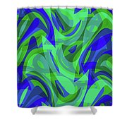 Abstract Waves Painting 0010094 Shower Curtain