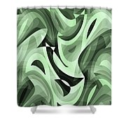 Abstract Waves Painting 0010095 Shower Curtain