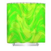 Abstract Waves Painting 0010099 Shower Curtain