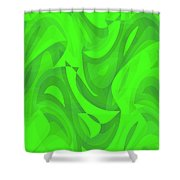 Abstract Waves Painting 0010100 Shower Curtain