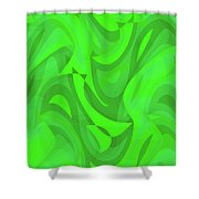 Abstract Waves Painting 0010101 Shower Curtain