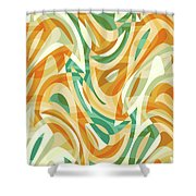 Abstract Waves Painting 0010105 Shower Curtain