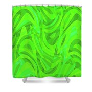 Abstract Waves Painting 0010106 Shower Curtain