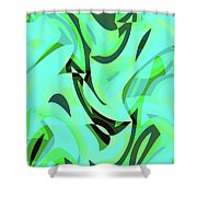 Abstract Waves Painting 0010107 Shower Curtain