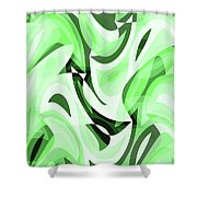 Abstract Waves Painting 0010108 Shower Curtain