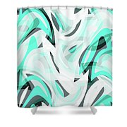Abstract Waves Painting 0010111 Shower Curtain
