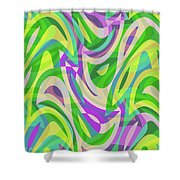 Abstract Waves Painting 0010113 Shower Curtain