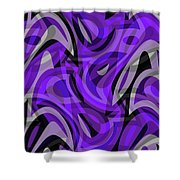 Abstract Waves Painting 0010115 Shower Curtain