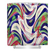 Abstract Waves Painting 0010118 Shower Curtain