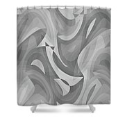 Abstract Waves Painting 0010119 Shower Curtain