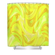 Abstract Waves Painting 0010121 Shower Curtain