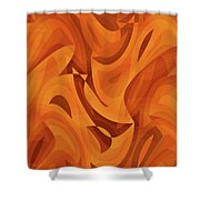 Abstract Waves Painting 001451 Shower Curtain