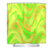 Abstract Waves Painting 007178 Shower Curtain