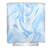 Abstract Waves Painting 007182 Shower Curtain