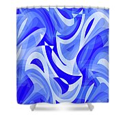 Abstract Waves Painting 007183 Shower Curtain
