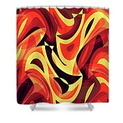 Abstract Waves Painting 007185 Shower Curtain