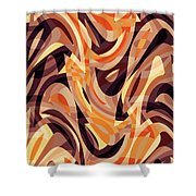 Abstract Waves Painting 007187 Shower Curtain
