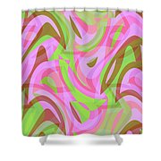 Abstract Waves Painting 007188 Shower Curtain