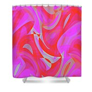 Abstract Waves Painting 007190 Shower Curtain