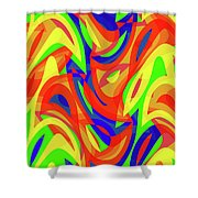 Abstract Waves Painting 007192 Shower Curtain