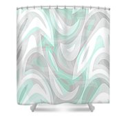 Abstract Waves Painting 007194 Shower Curtain