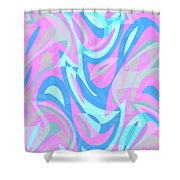 Abstract Waves Painting 007197 Shower Curtain