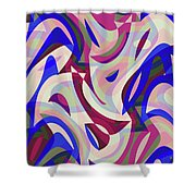 Abstract Waves Painting 007199 Shower Curtain