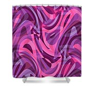 Abstract Waves Painting 007200 Shower Curtain