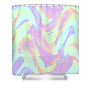 Abstract Waves Painting 007205 Shower Curtain