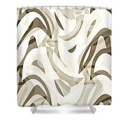 Abstract Waves Painting 007212 Shower Curtain