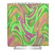 Abstract Waves Painting 007214 Shower Curtain
