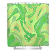 Abstract Waves Painting 007216 Shower Curtain