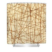Abstract Web Background Shower Curtain