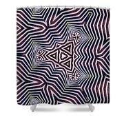 Abstract Zebra Design Shower Curtain