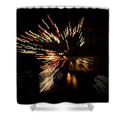 Abstracted Christmas - Luminous Fairy Lights Patterns Shower Curtain