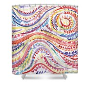 Abstraction In Winter Colors Shower Curtain