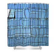 Abstritecture 1 Shower Curtain